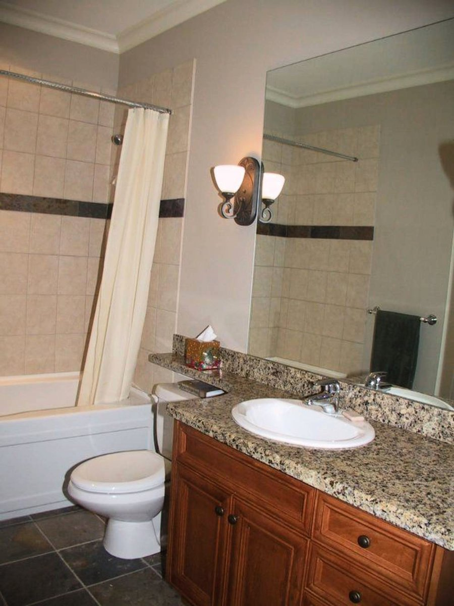 Bathroom Down Granite countertops