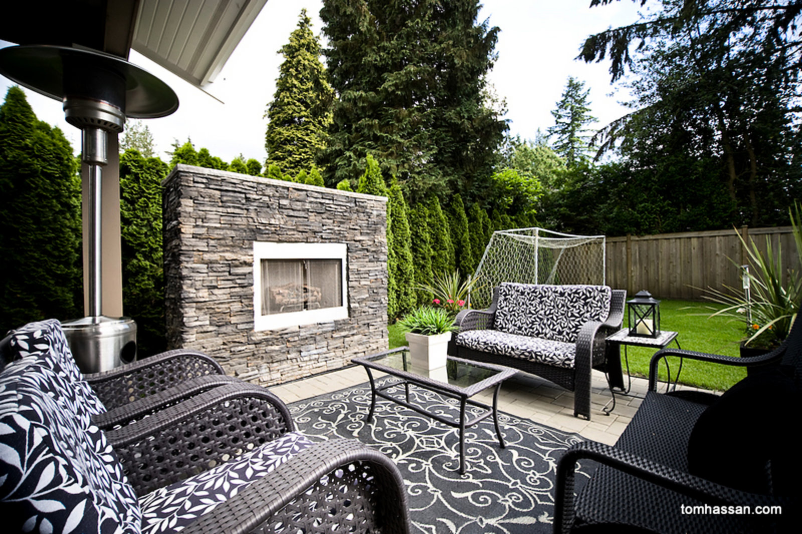 Outside Sitting Room with Fireplace