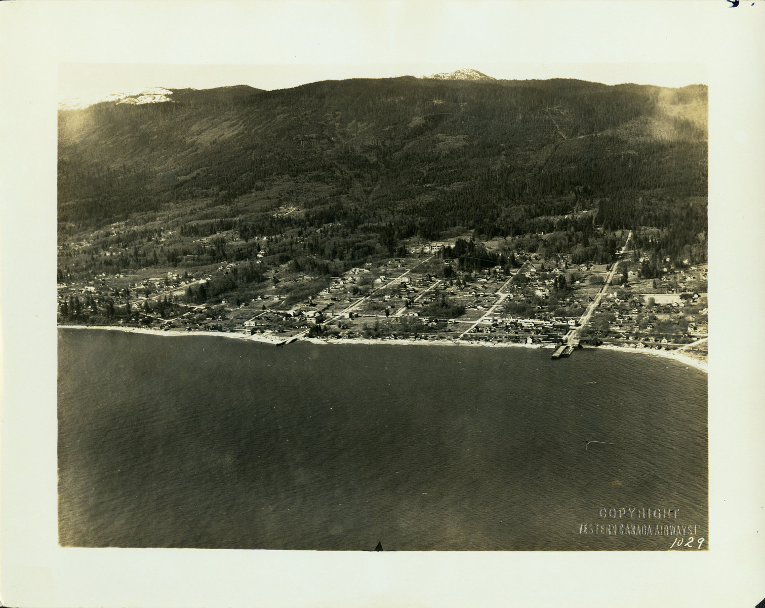 Aerial View Ambleside 1929