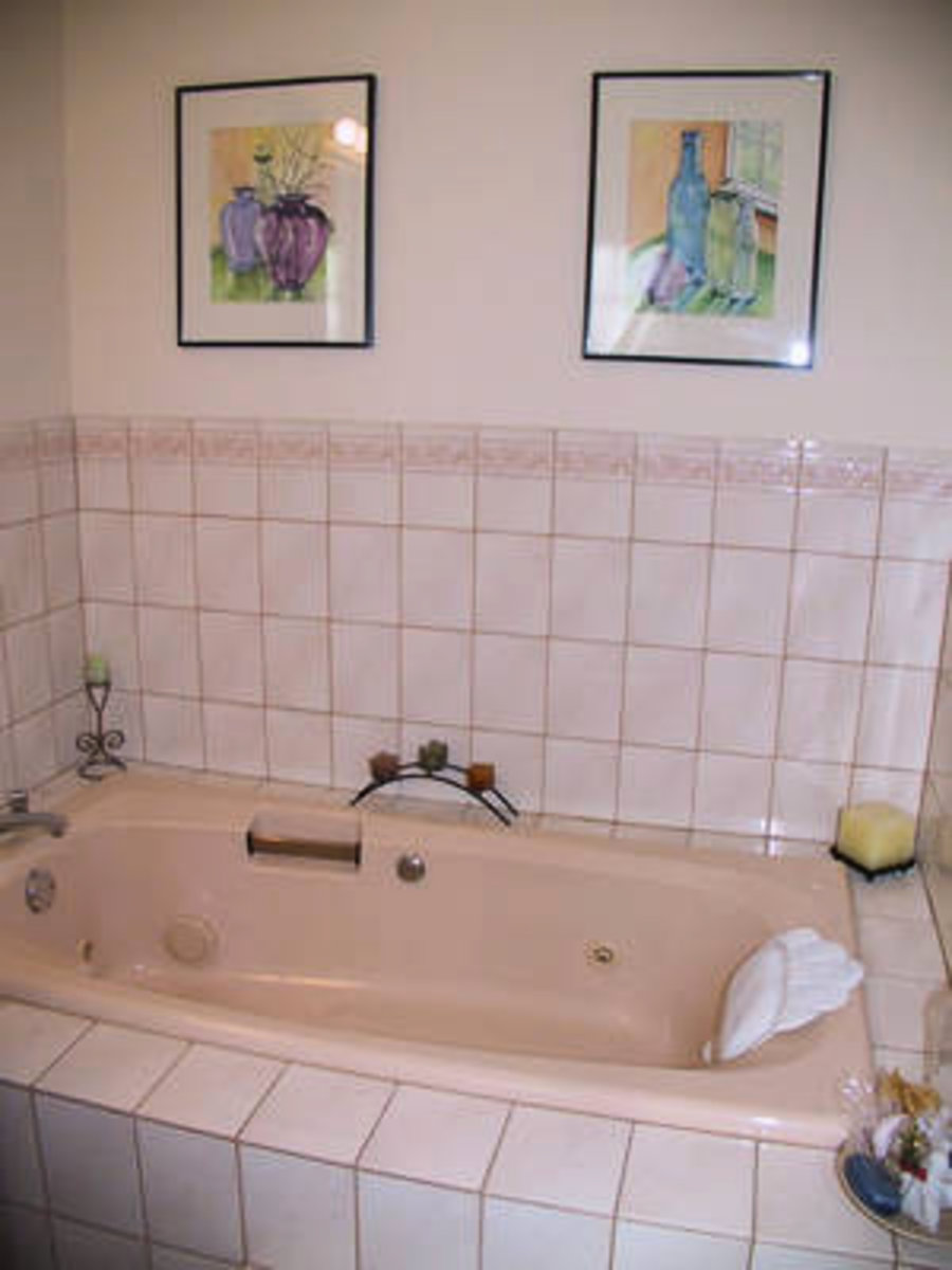 Master Bathroom New bathroom with jacuzzi tub